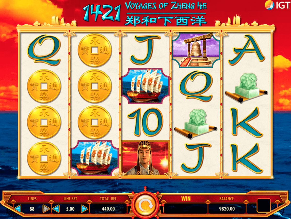 1421 voyages of zheng he igt casino