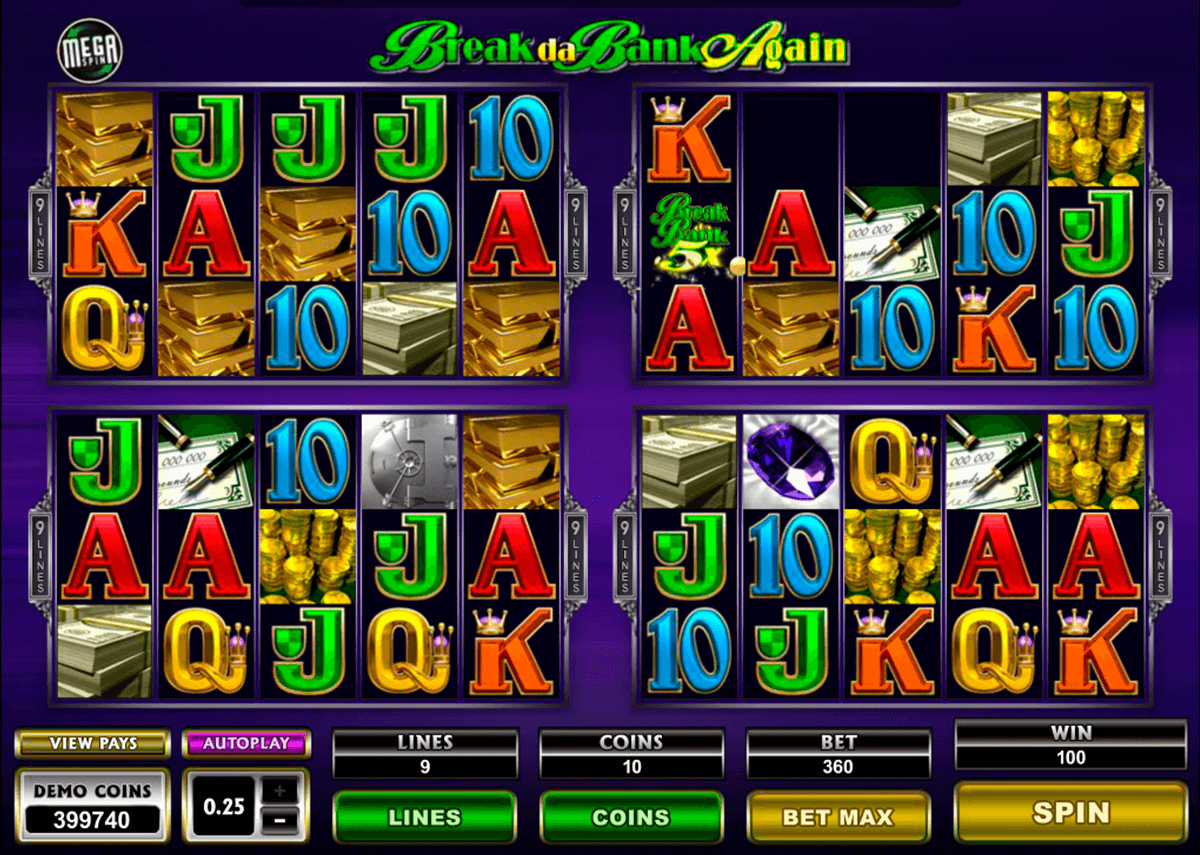 break da bank again megaspin microgaming casino
