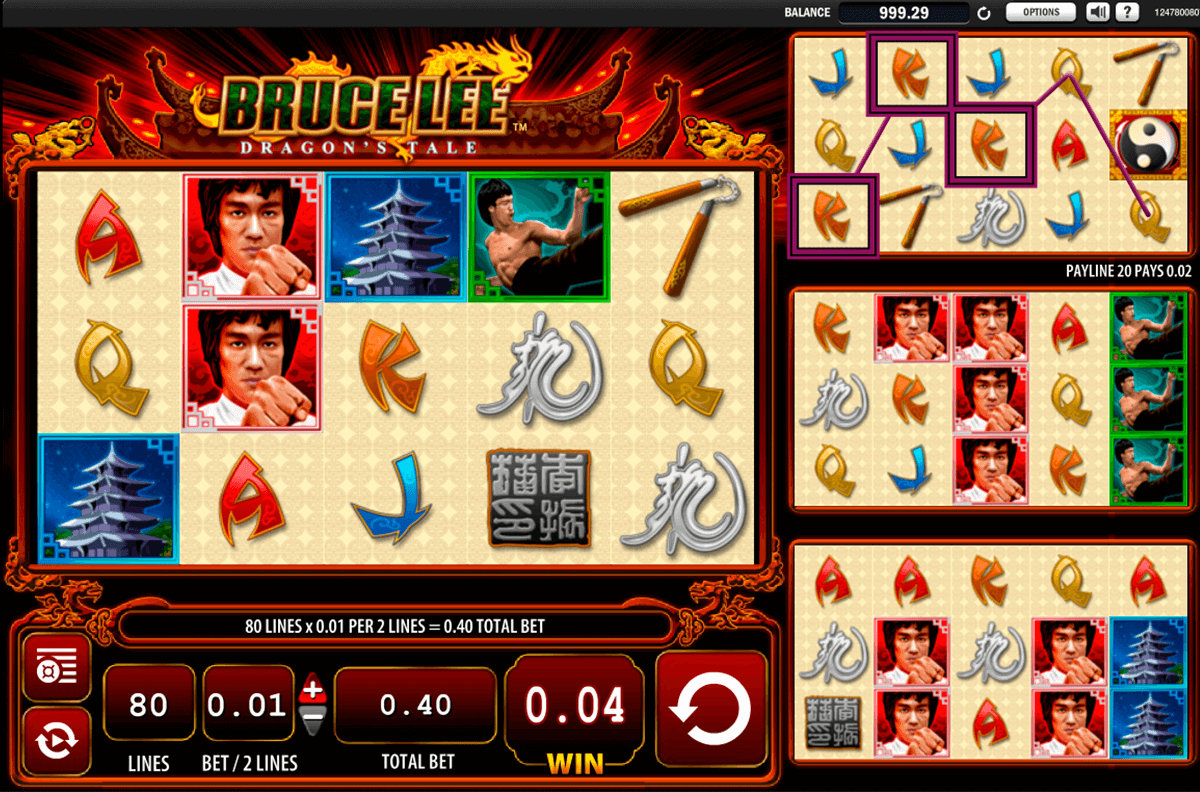 bruce lee dragons tale wms casino