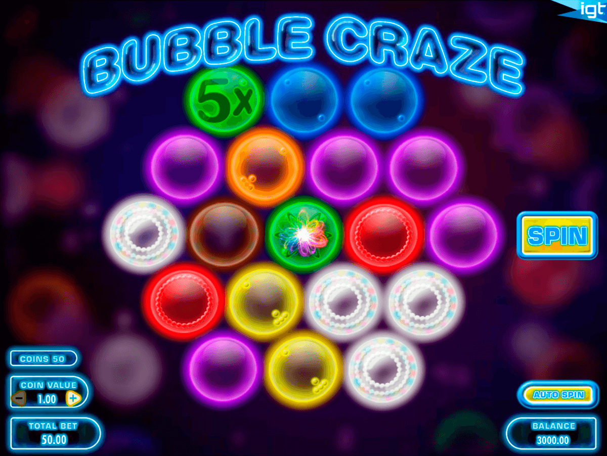 bubble craze igt casino