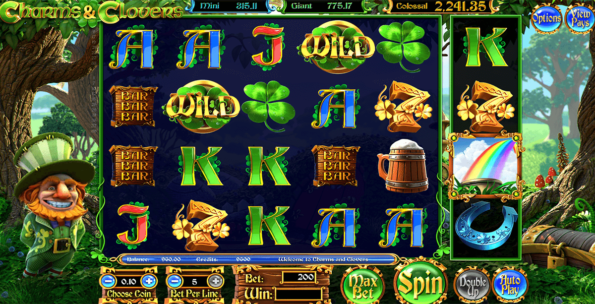 charms clovers betsoft casino