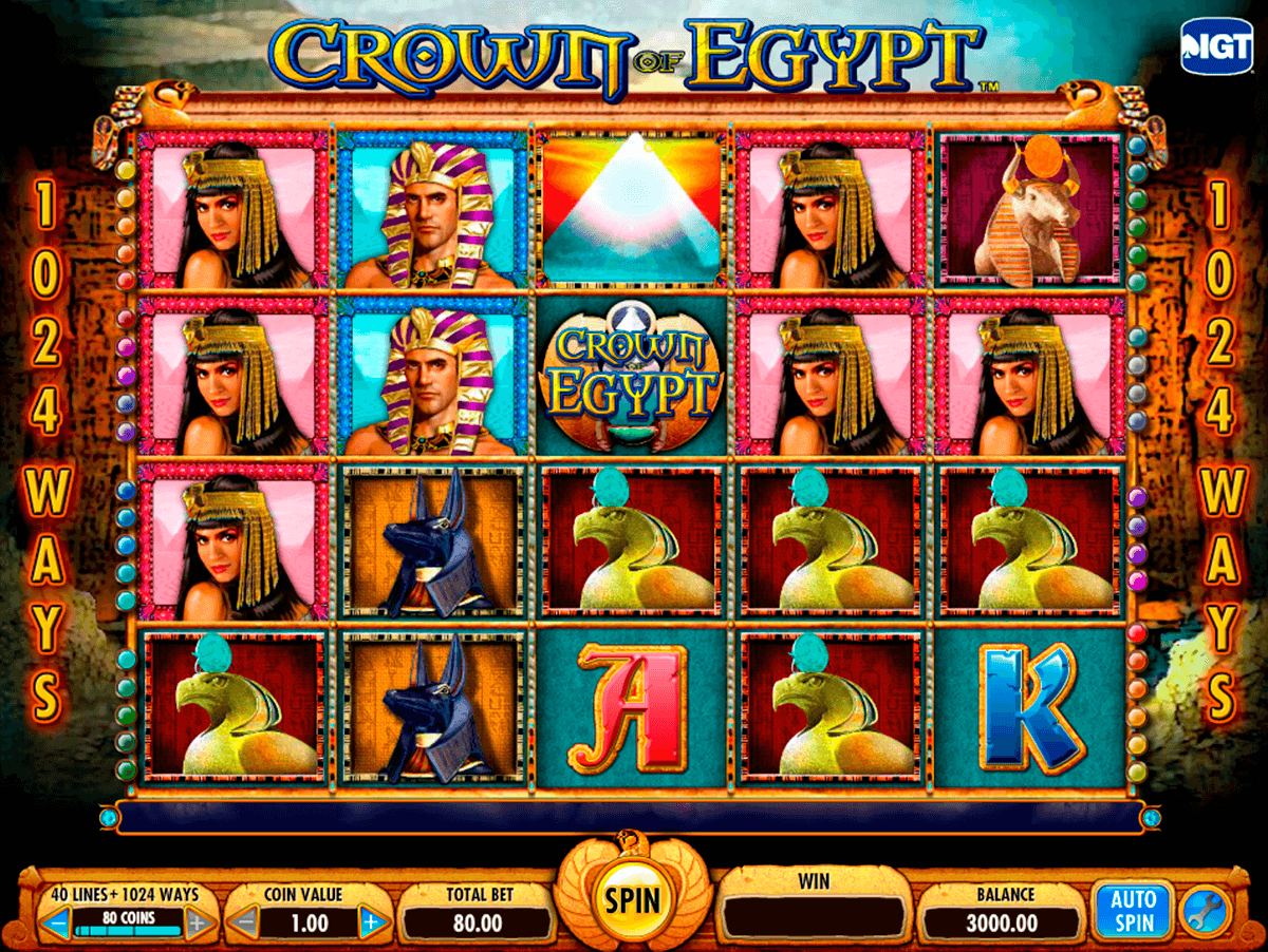 crown of egypt igt casino