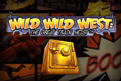 logo wild wild west the great train heist netent kolikkopeli netissa