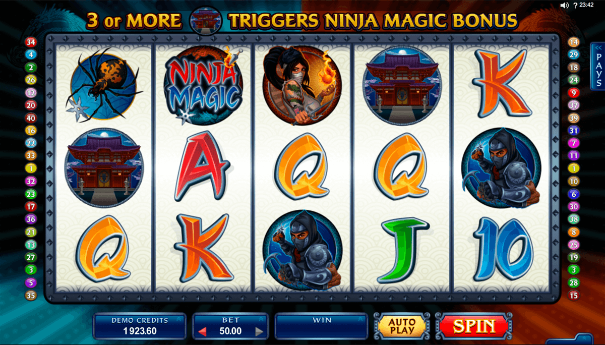 ninja magic microgaming hedelmapeli netissa
