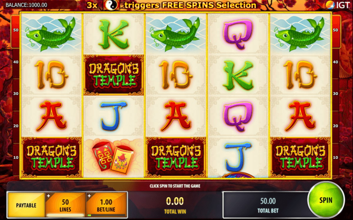 dragons temple igt casino