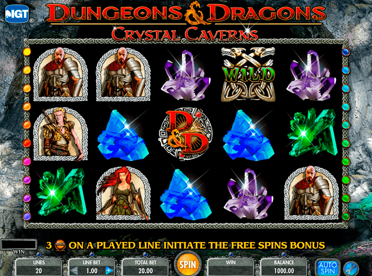 dungeons and dragons crystal caverns igt casino
