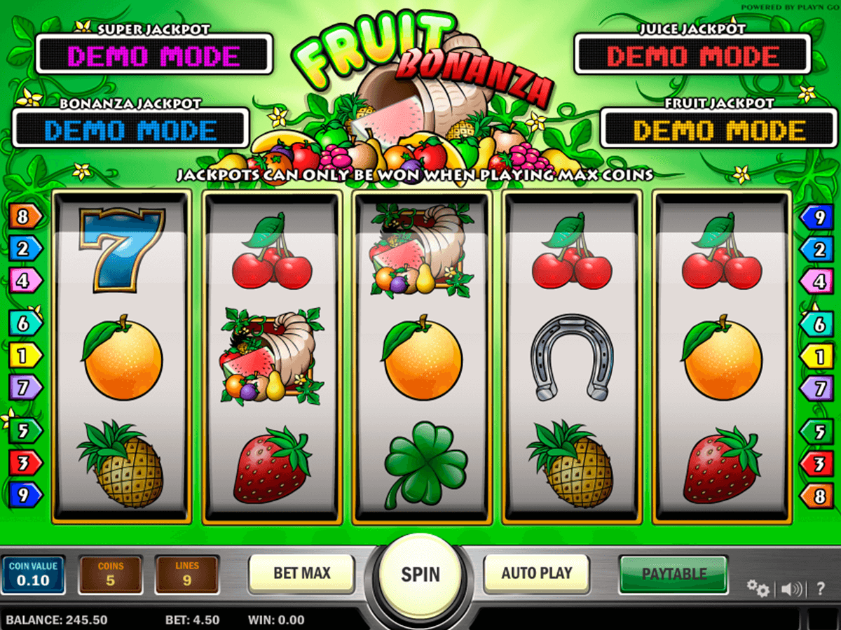 fruit bonanza playn go casino