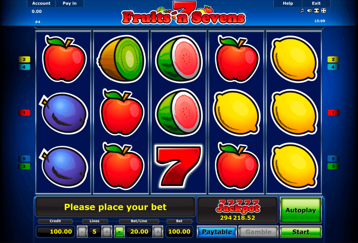 fruitsn sevens novomatic casino