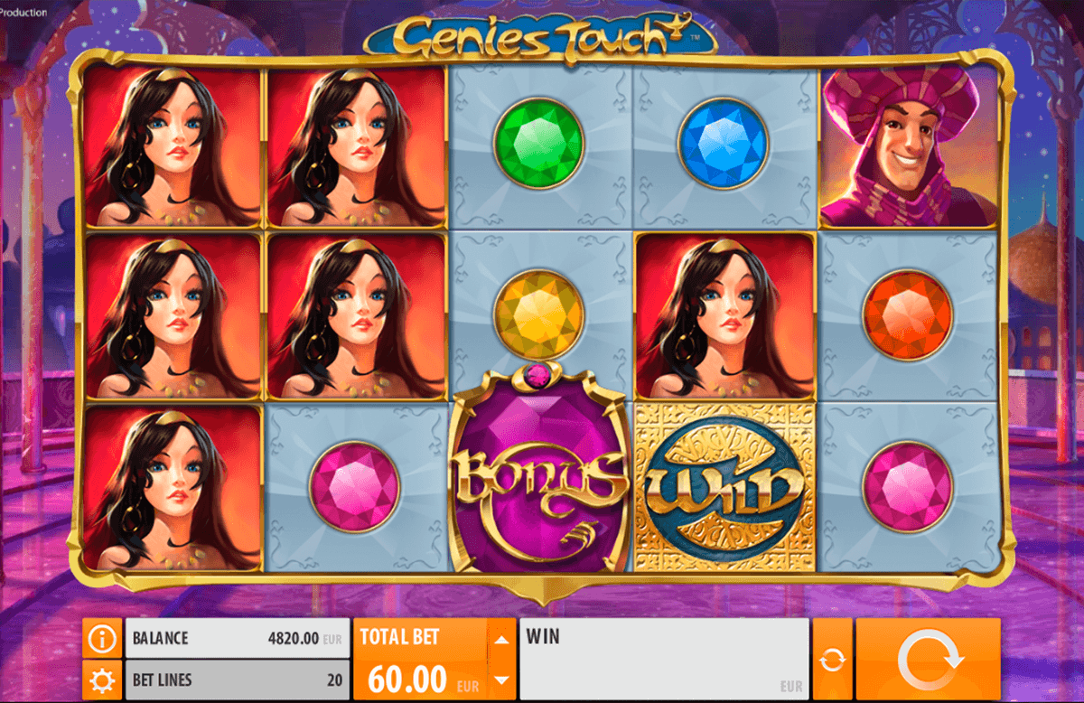 genies touch quickspin casino