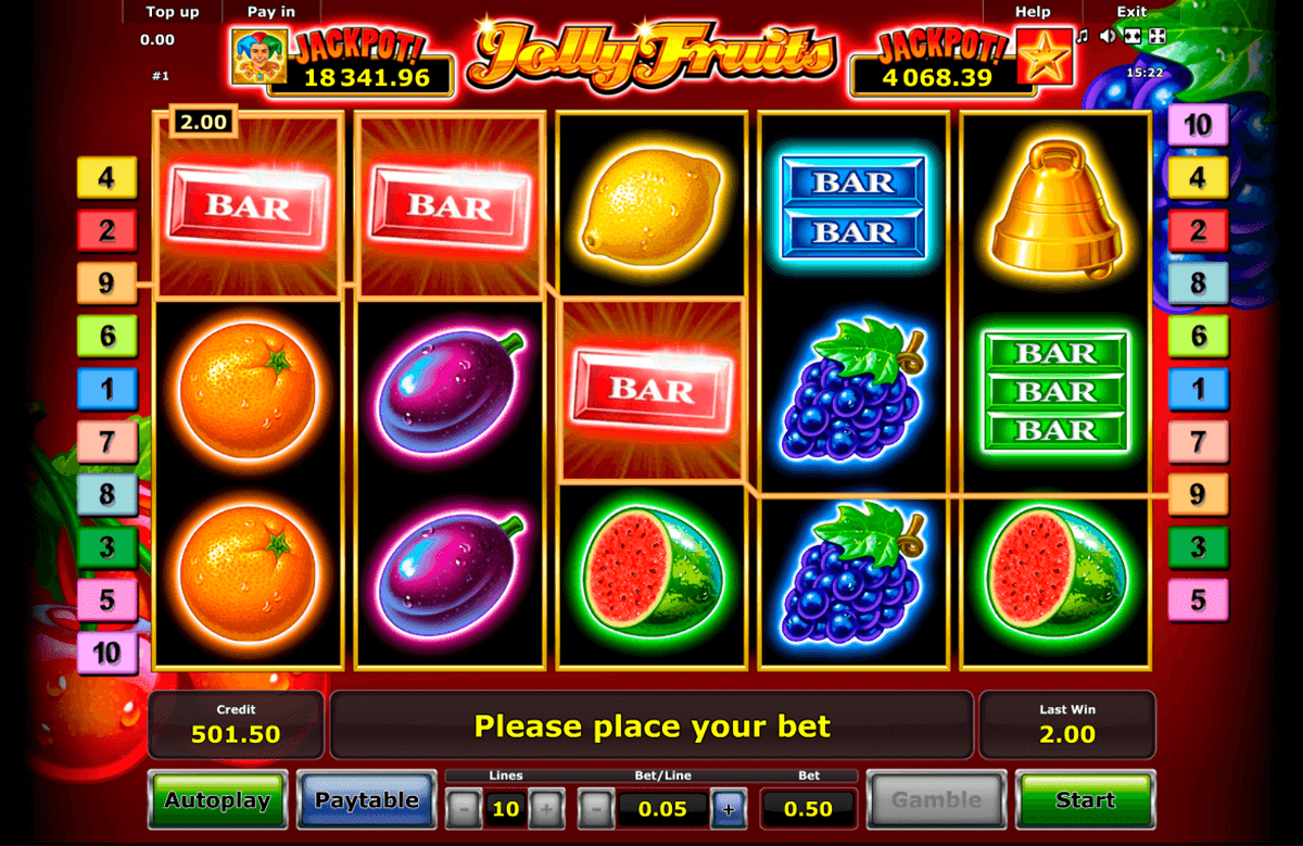 jolly fruits novomatic casino
