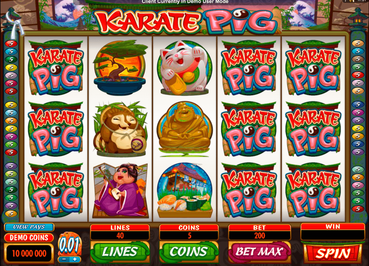 karate pig microgaming casino