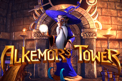 logo alkemors tower betsoft kolikkopeli