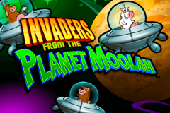 logo invaders from the planet moolah wms kolikkopeli