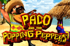 logo paco and the popping peppers betsoft kolikkopeli