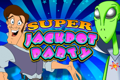 logo super jackpot party wms kolikkopeli