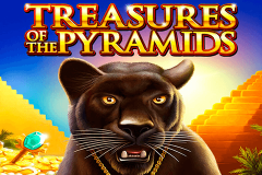logo treasures of the pyramids igt kolikkopeli