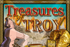 logo treasures of troy igt kolikkopeli
