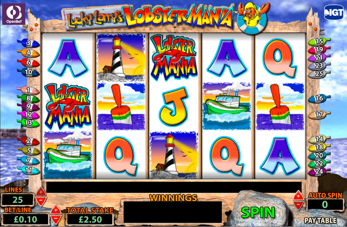 lucky larrys lobstermania igt casino