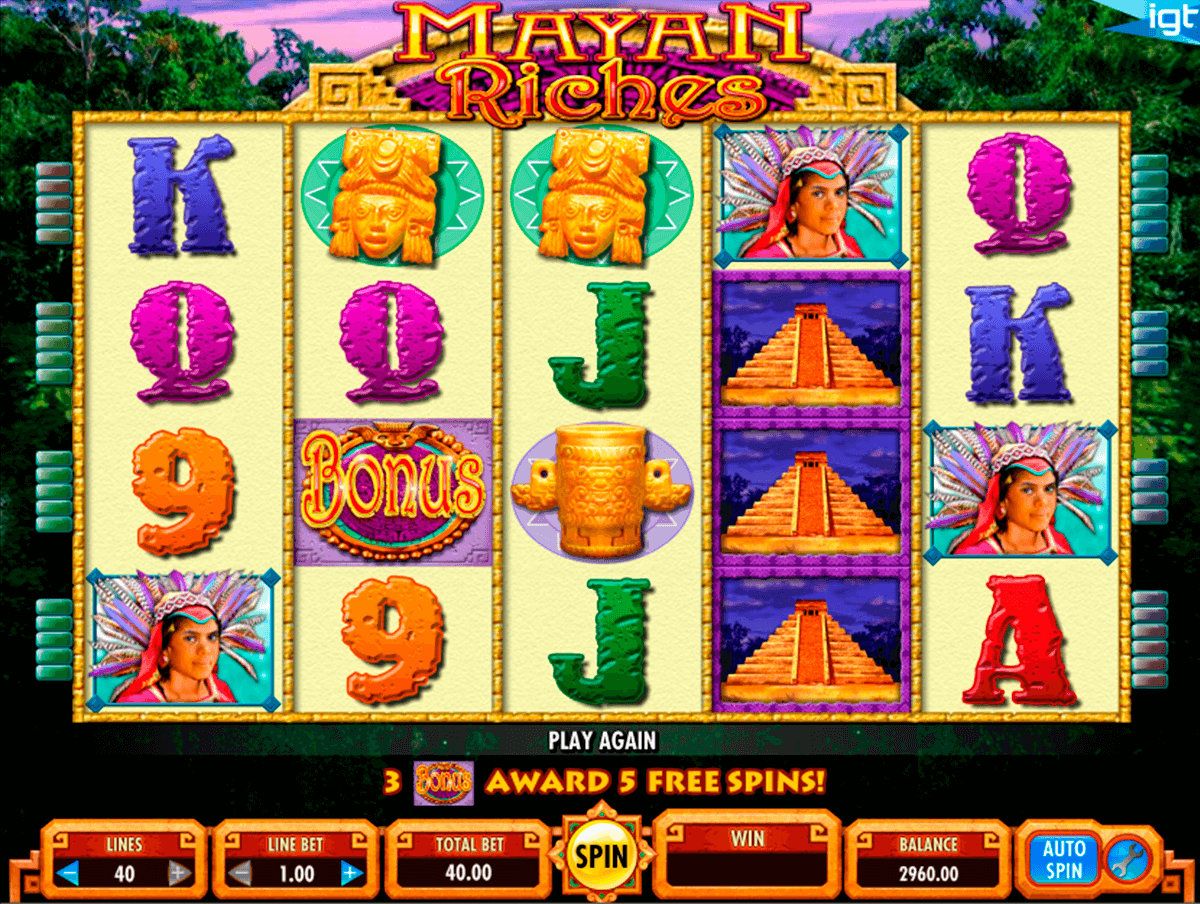 mayan riches igt casino