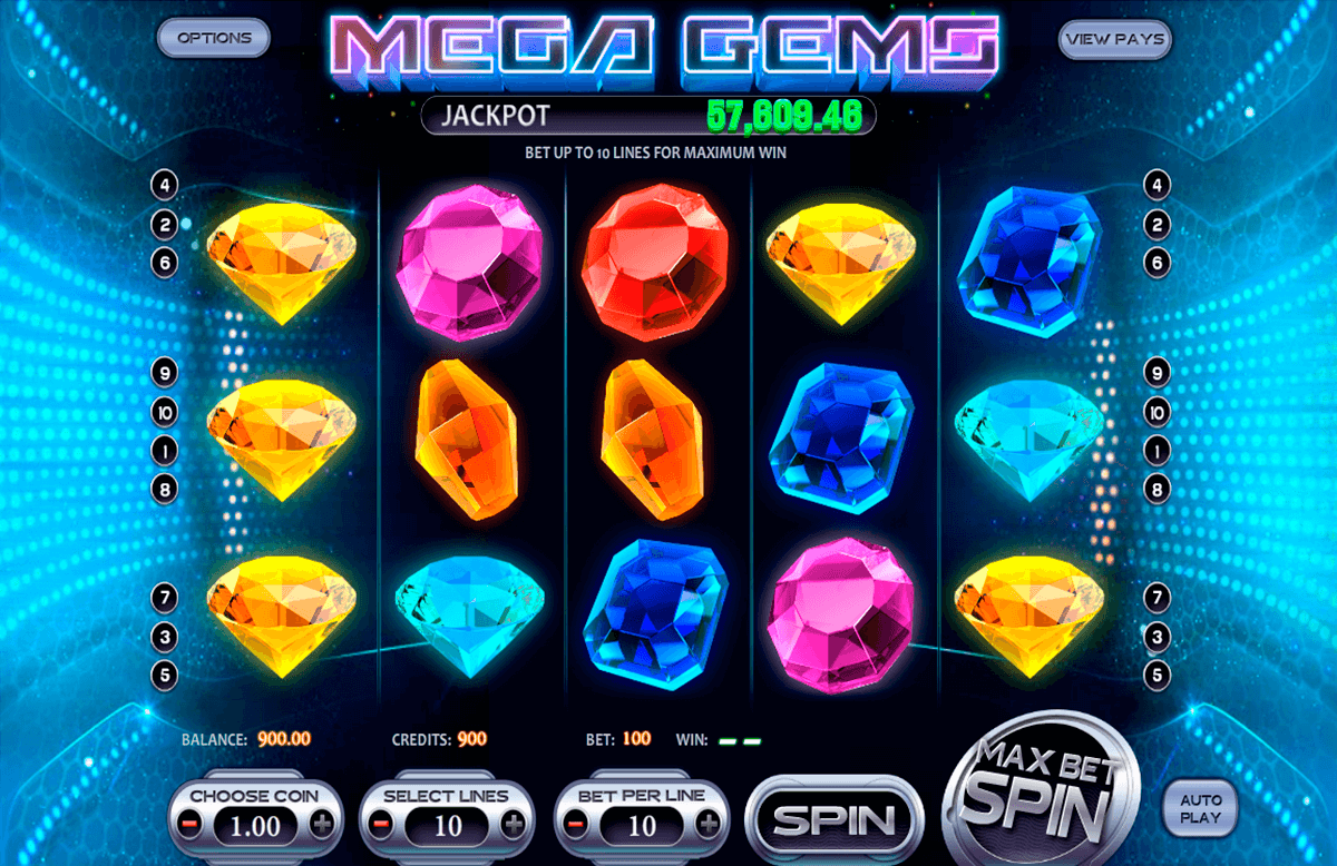 mega gems betsoft casino