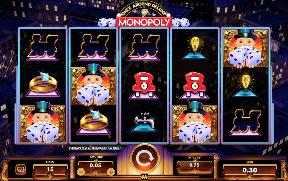 monopoly once around deluxe wms casino