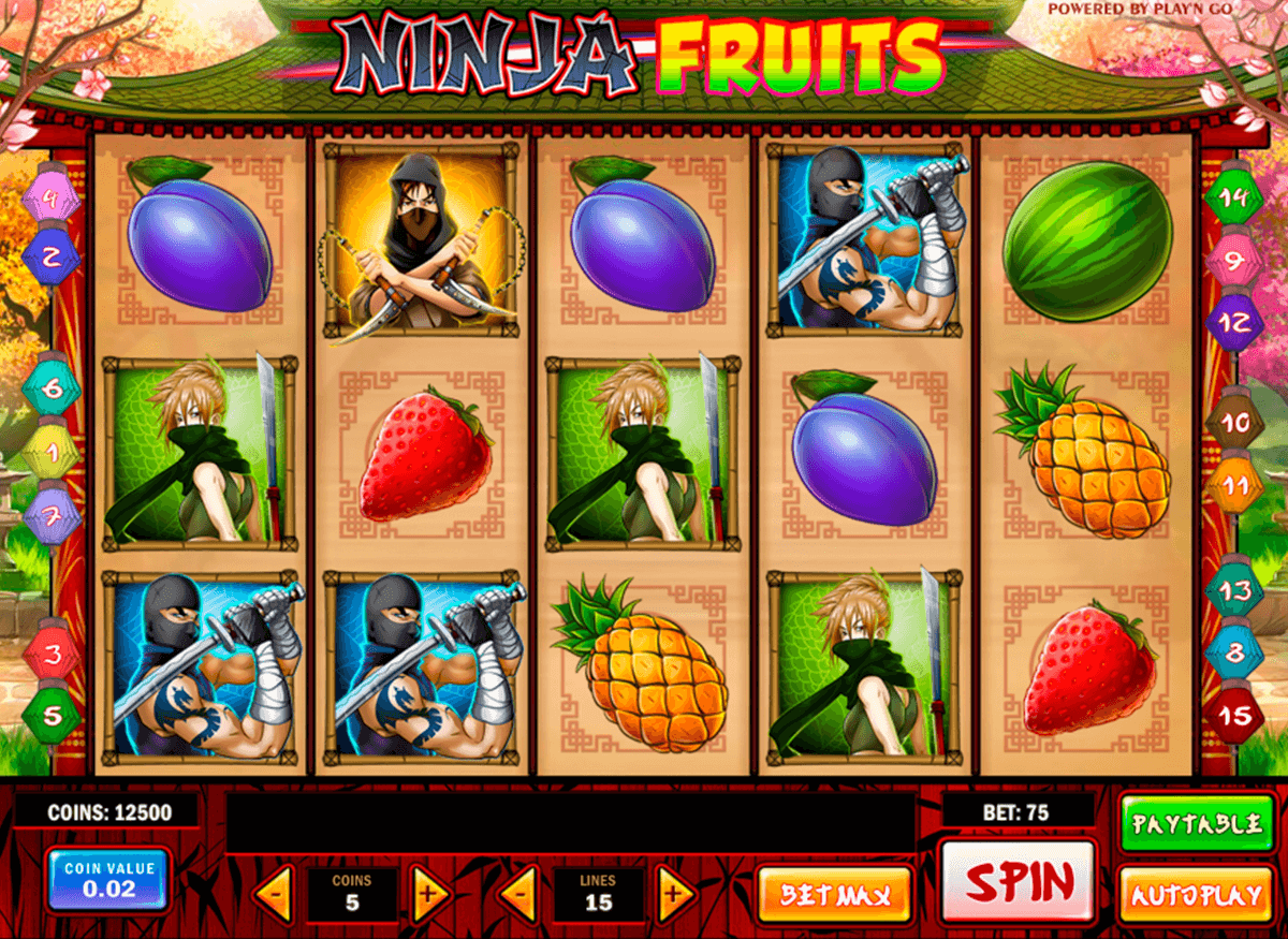 ninja fruits playn go casino