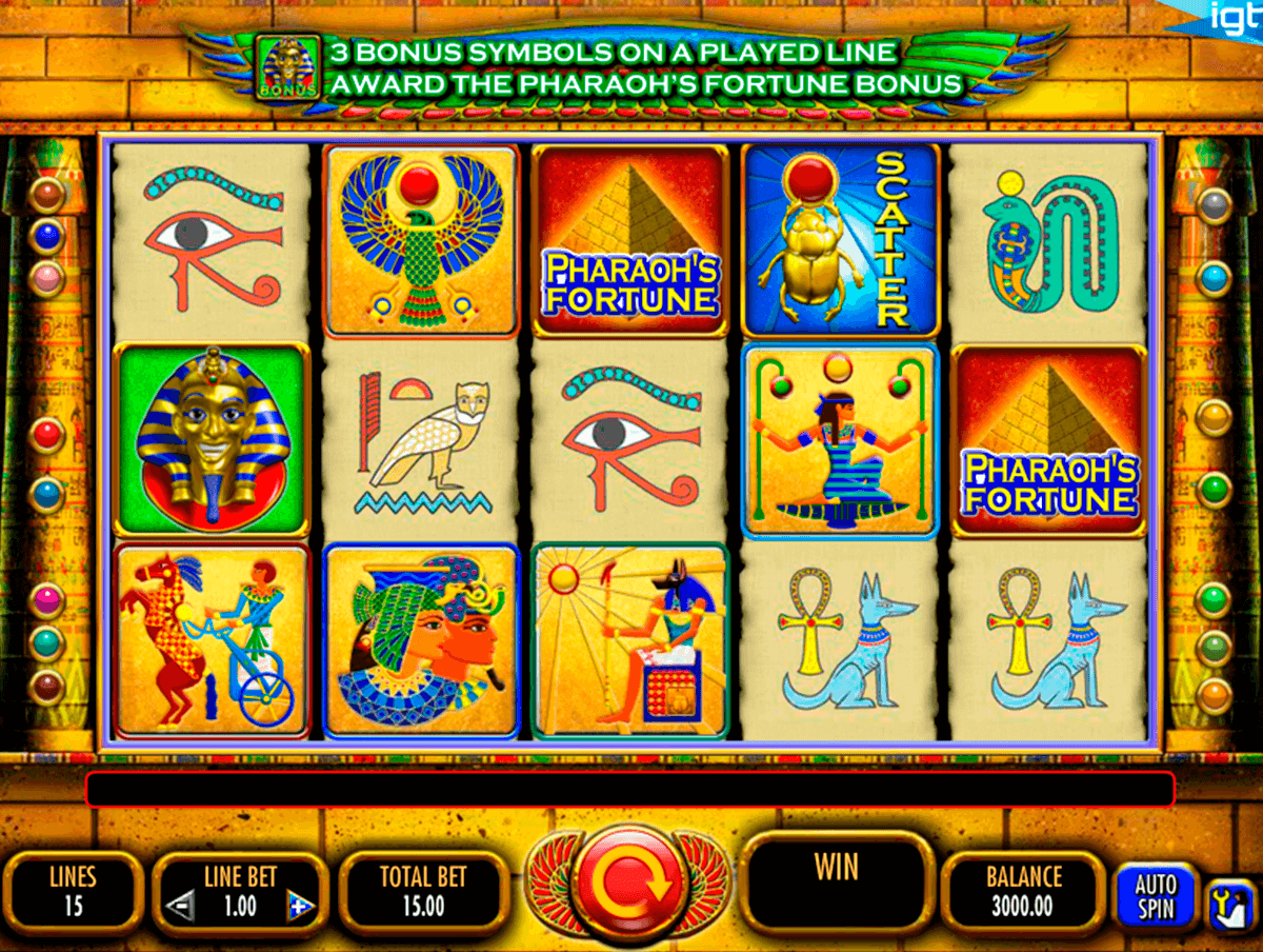 pharaohs fortune igt casino