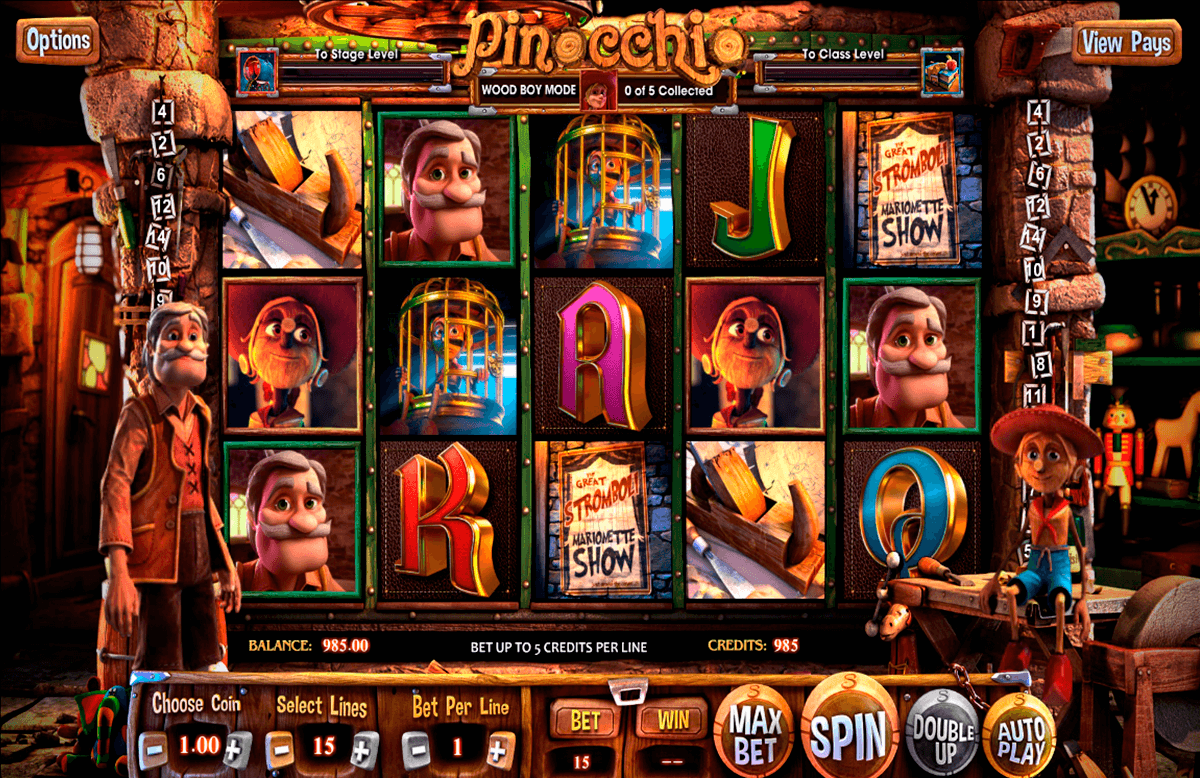 pinocchio betsoft casino