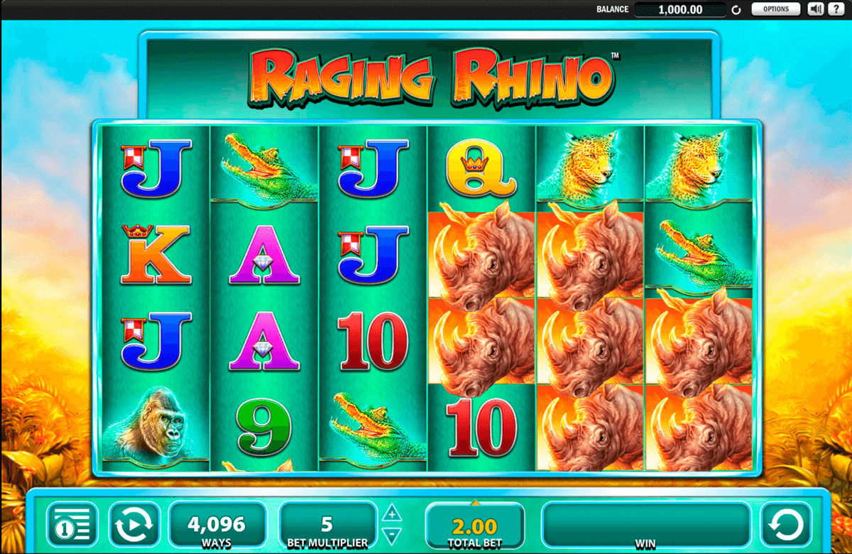 raging rhino wms casino