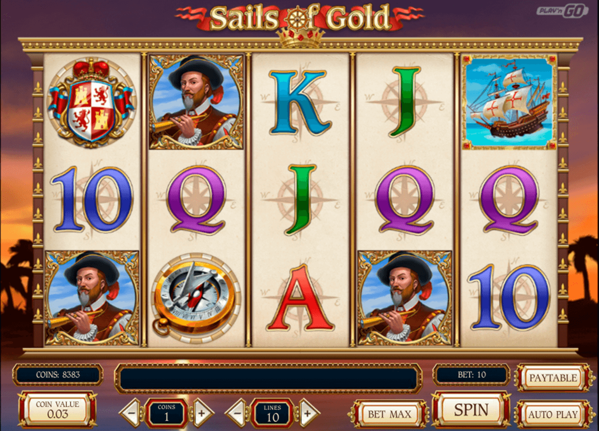 sails of gold playn go casino