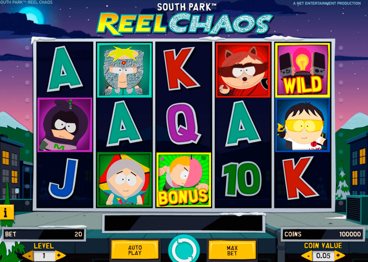south park reel chaos netent casino