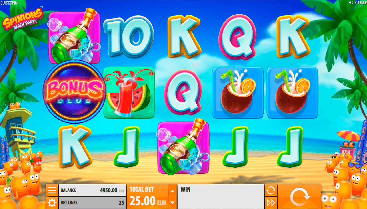 spinions beach party quickspin casino