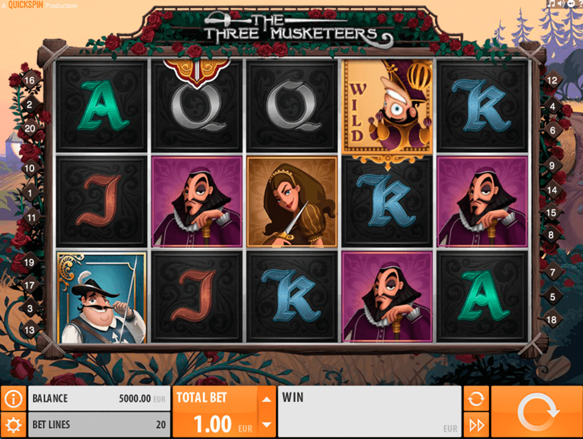 the three musketeers quickspin casino