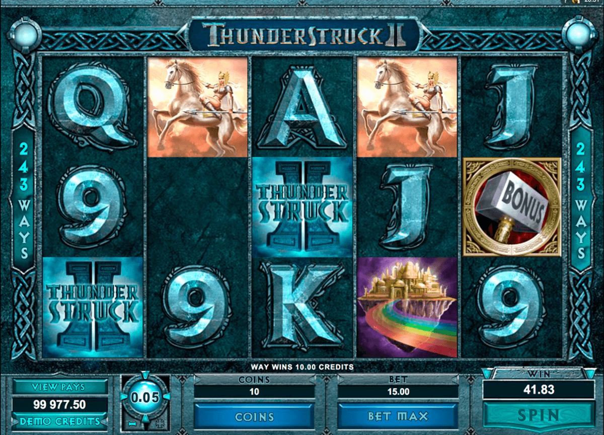 thunderstruck ii microgaming casino