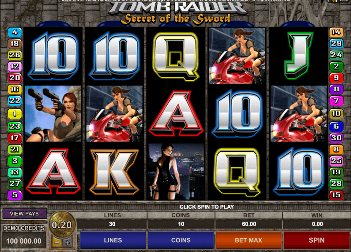 tomb raider ii microgaming casino
