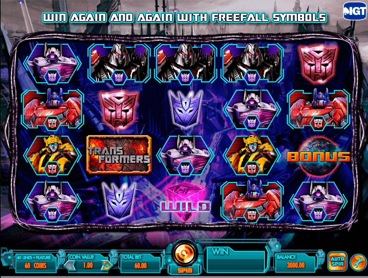 transformers battle for cybertron igt casino