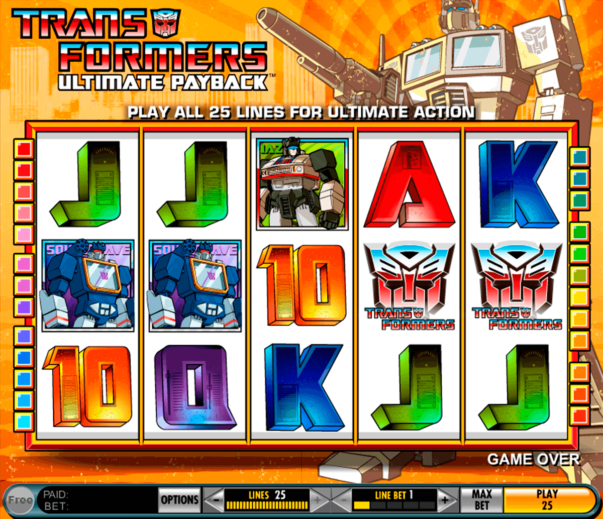 transformers ultimate payback igt casino