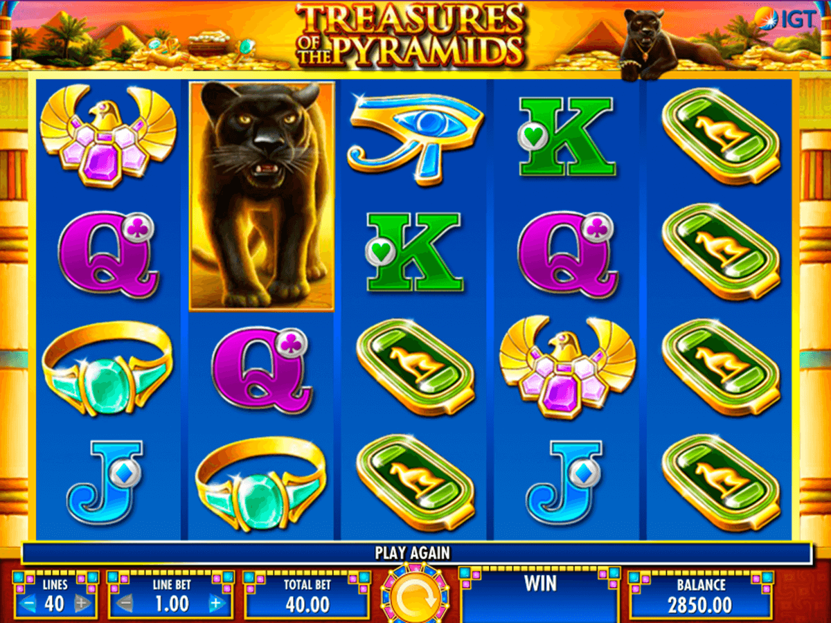 treasures of the pyramids igt casino