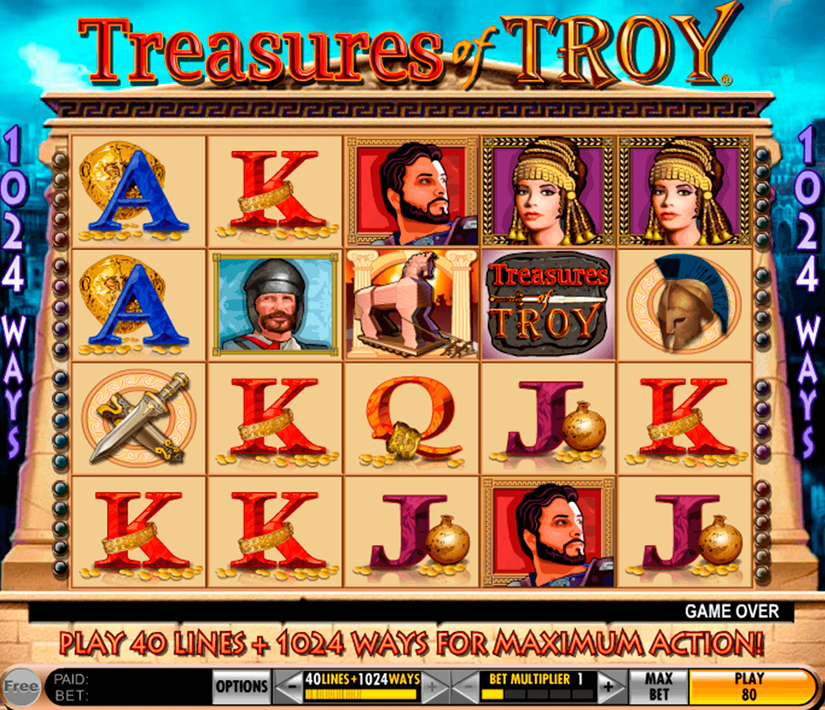 treasures of troy igt casino