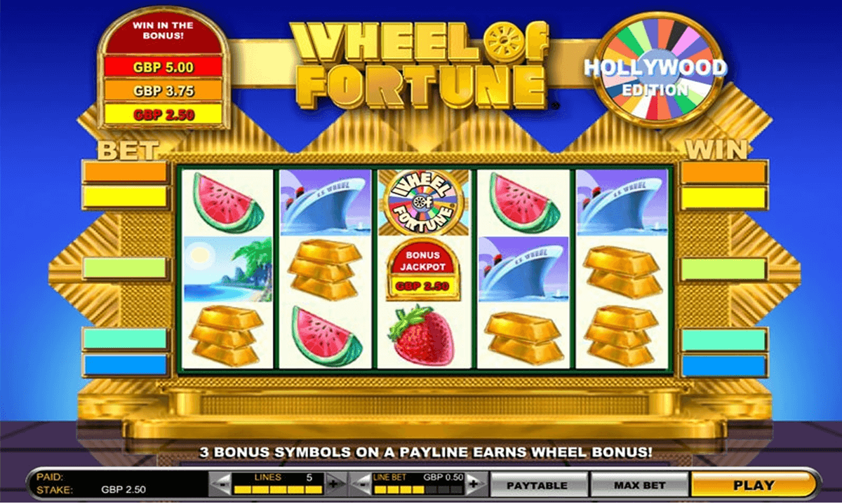 wheel of fortune hollywood edition igt casino