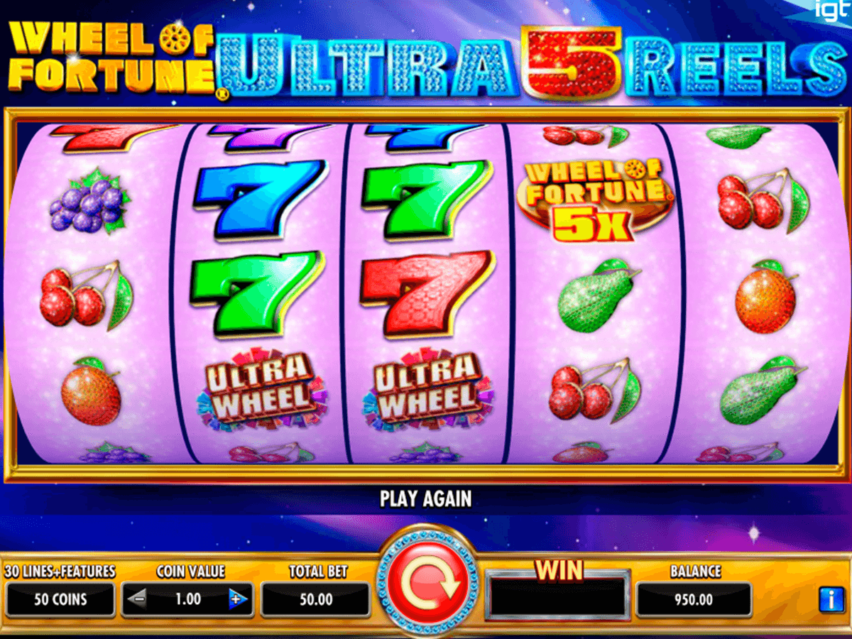 wheel of fortune ultra 5 reels igt casino